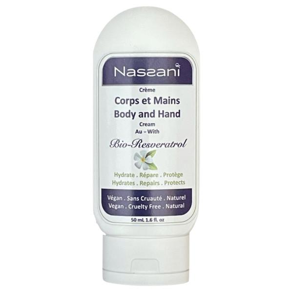 Crème Naturelle Corps et Mains avec Bio Resvératrol